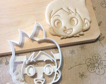 Yo-Kai Watch Keita Cookie Cutter - Boy Fondant Icing Cake Cupcake Topper Iced Sugar Cookies Biscuits Mould Birthday Party Anime Yokai Youkai