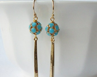 ON SALE Turquoise Dangle Earrings