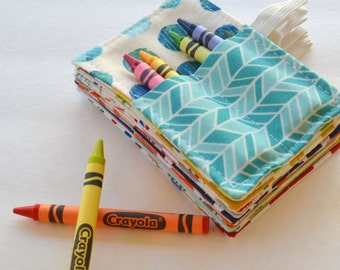 Mini Crayon Rolls . Birthday Party Favor . Set of 10 . 4 Crayons Included . Art Party Favors . Wedding Favors for Children