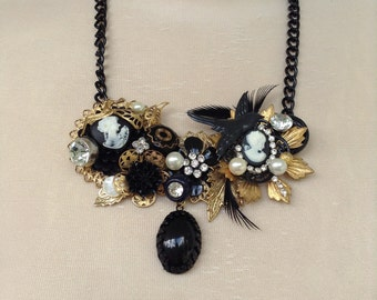 Black Assemblage Necklace