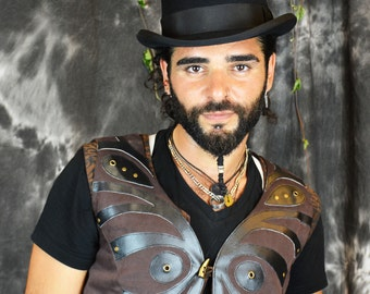 Star Seed Mens Waistcoat - Ethically Made Steampunk Vest
