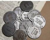 ON SALE Vintage Las Vegas One Dollar Slot Machine Game Token Steel Gaming Coin (3)