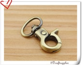 1/2  inch (inner diameter)  Anti bronze Swivel snap hook 6pcs (bag findings) AB44