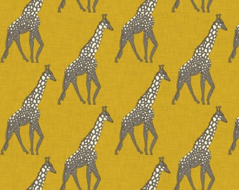 Giraffe Safari Fabric By Holli Zollinger - Giraffe Fabric with Spoonflower - By the yard