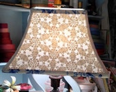 Crochet Lamp Shade Rectangle Lampshade Upcycled Vintage Tablecloth - 6x12x8 washer top - Pretty Look!