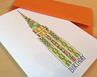 Skyscraper Birthday Card