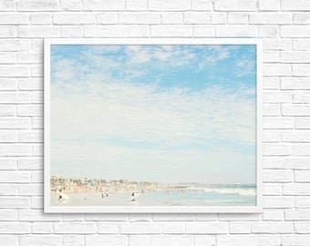BUY 2 GET 1 FREE California Wall Art, Venice Beach, Beach Photo, Sand, Ocean, California Summer, Wall Decor, California Decor - Wave Waiting