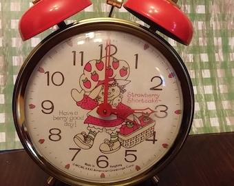 SALE Vintage Strawberry Shortcake Alarm Clock 1981 HTF