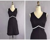 vintage little black dress • black 60s dress