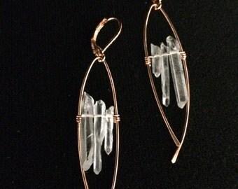 Modern Trio Quartz Earrings