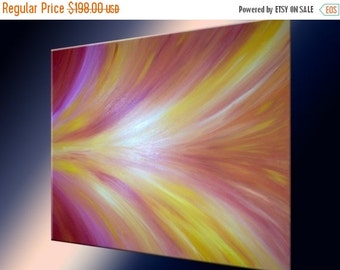 Abstract Red Original Painting Sale 22% Off