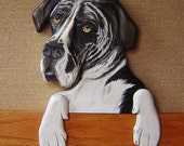 Pet Portrait Custom- Hand Carved of Wood - Hand Painted - Door or Window Topper