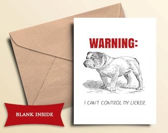 Printable Bulldog Card / Instant Download
