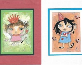 Notecards - Set of 2 - Little Girls