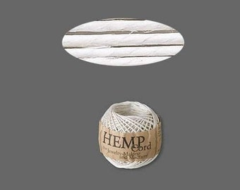 White Hemp Cord Ball 1mm 82 Feet