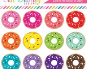 Food & Dessert Clipart Instant Download Donut Graphics Commercial Use OK