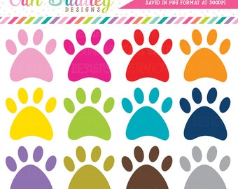 Paw Print Clipart, Dog Clipart, Animal Clipart, Paw Print Clip Art Graphics, Vet Clip Art