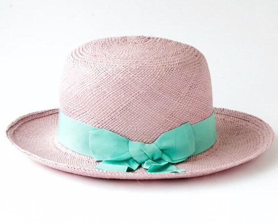 Panama Hat Women's Straw Hat Spring Fashion Sun Hat Wide Brimmed Hat Pink Straw Hat Spring Accessories-Summer Hat  Beach Hat Optimo Hat