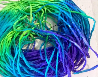 3mm hand rolled silk habotai string/ cord Jewelry- hand dyed by Spiraldyed