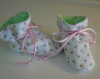 Baby girl TV booties/soft sole shoes SIZE SMALL