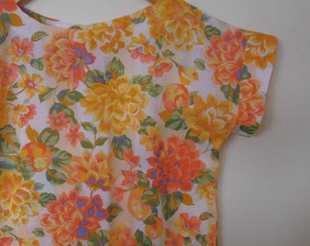summer lovin'...bright floral cotton loose fit top