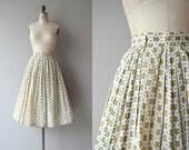 Slow & Steady skirt | vintage 1950s skirt | novelty print cotton 50s skirt