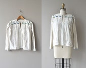 Bulgarian tunic | antique 1930s embroidered blouse | vintage 30s cotton tunic