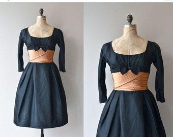 25% OFF.... Lorillard Tuxedo dress   vintage 1950s dress   50s party dress