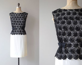 Rothmere cocktail dress | vintage 50s dress | black and white 1950s dress
