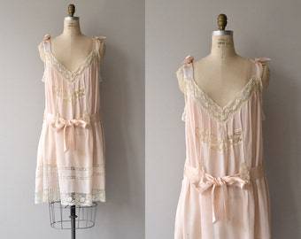 Pretty Baby nightie | vintage 1920s lingerie | silk and lace 20s nightgown