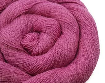 Recycled Wool Yarn - Merino Lace - Recycled Yarn - Rose 140416