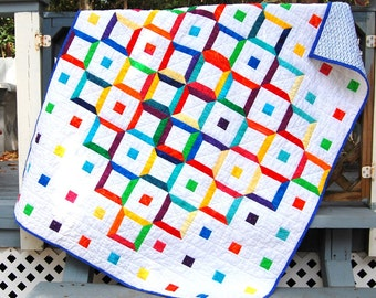 Bright and Fun Handmade Baby Quilt