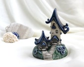 Reserved for  Nancy - Blueberry House of tiny fairies - Hand Made Ceramic Eco-Friendly Home Decor by studio Vishnya