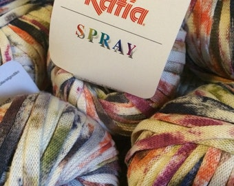 Katia Spray 14 skeins multicolor bulky cotton yarn