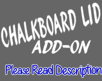 Add - On for Phone Jail or Cell Block CHALKBOARD LID