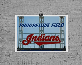 Progressive Field Cleveland Indians - 4 x 6 photograph