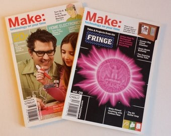 TWO Issues - Make Magazine - Technology on Your Time - volumes 9 & 10 - - Back Issue - makezine.com