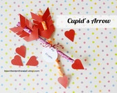 KIT 12 Cupid Arrow Sets-Valentine's Day Treat for Classroom, Family, Friends  Pencils, Pixy Stixs