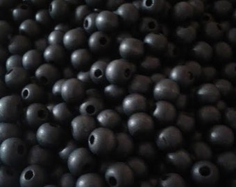 Black Wood Beads - Mixed Colors - 50 piece -