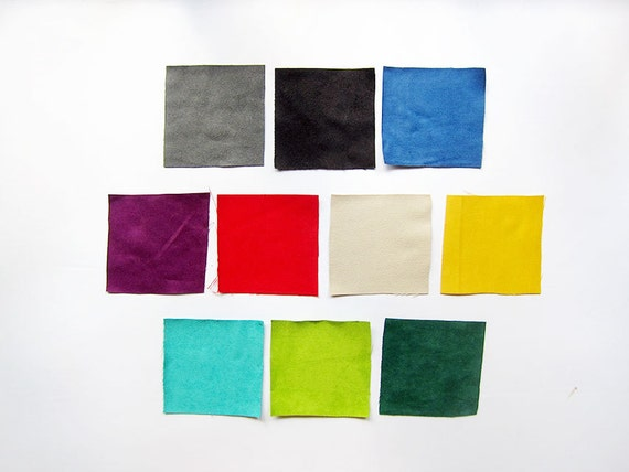 Faux Suede Fabric / Microsuede / Suedette - Sample Bundle in 10cm Squares - 13 colors