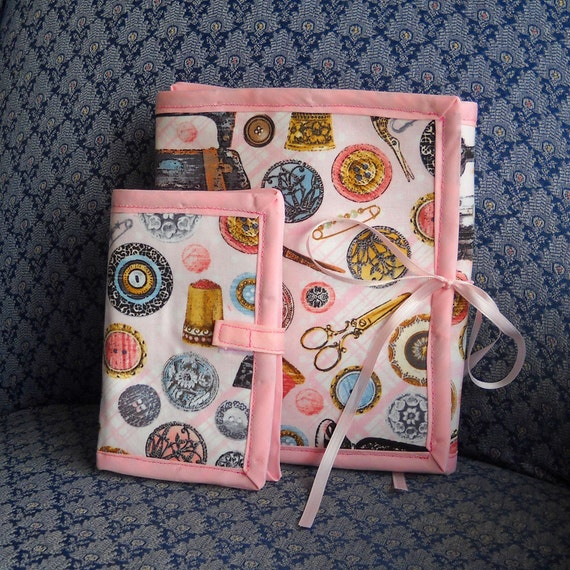 Antique Sewing Room Sewing Caddy Needle Book Craft Organizer
