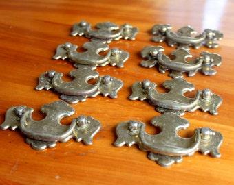 Vintage 8 Chippendale Brass Handles Drawer Pulls Hardware