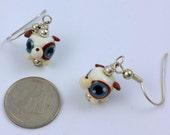 Adorable Puppy Lampwork Glass Earrings