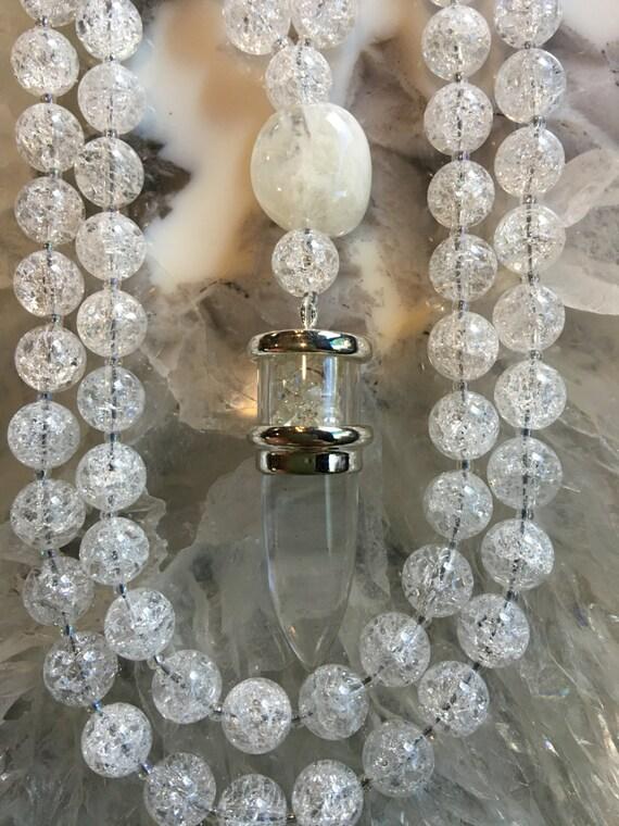 Crackle Quartz Mala/Prayer Beads