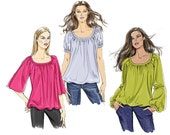 Vogue V8581 Sewing Pattern - Vogue Patterns Misses Tunic Sewing Pattern