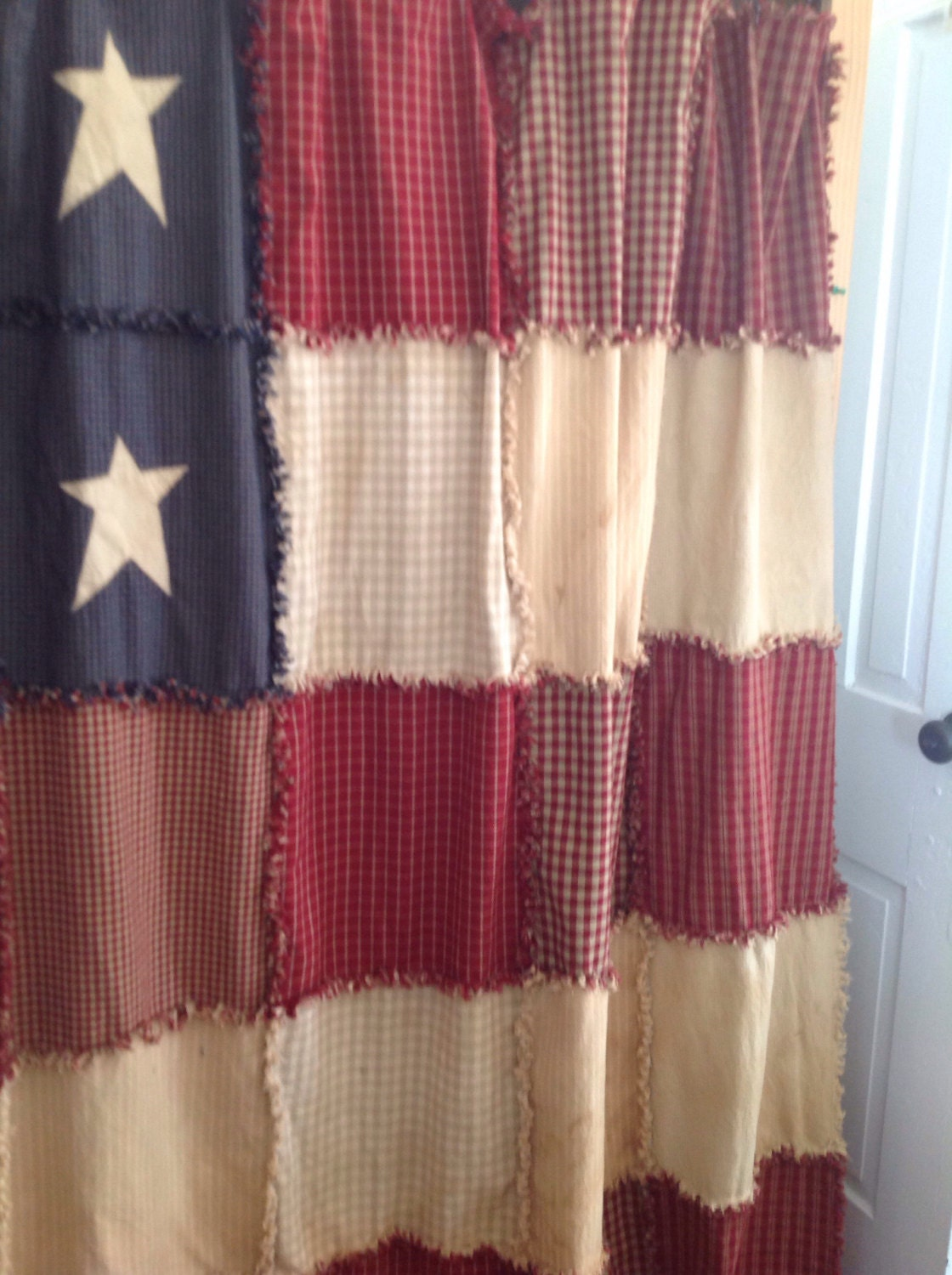 Primitive Americana Shower Curtain