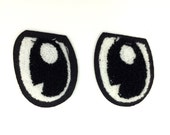 "Set of 2 Chenille Eye Patches 2"" tall"