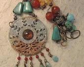 Mandala Gemstone Statement Necklace