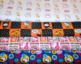 HELLO KITTY #4  Fabrics, Sold INDIVIDUALLY not as a group, by the Half Yard