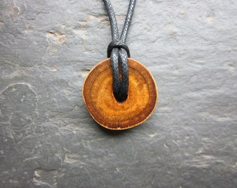 Natural Wood Pendant - Fig - for Emotional Balance.